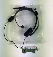 Official Microsoft Xbox 360 Live Black Chat Headset **FREE UK POSTAGE**