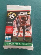 1992 score itallian vintage sealed soccer/football packs X3