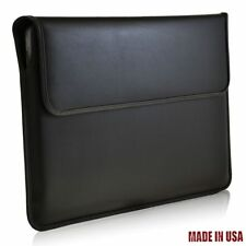 "Turtleback Black Matte Leather Laptop Sleeve Case For Apple Macbook Air 13"""