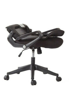 Ergonomic Task Chair Computer Desk Office Easy Fold Out Kairo by Ergo HQ - Grey
