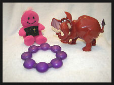 baby toys 01 Tarzan movie elephant wind up tail he shakes  teether and smiley