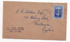 1954 MALTA Air Mail Cover VALETTA to NORTHAMPTON GB SG264 Sliema