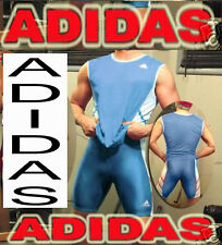 MEN'S ADIDAS NYLON MUSCLE THROWING  SHIRT SINGLET POWDER BLUE XL 2XL