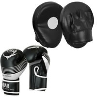 ROAR Curved Focus Pad & Boxing Gloves MMA Kickboxing Hook Jab Punching