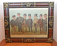 Antique 1896 Vanity Fair Cartoon Portrait Print On The Heath Horse Derby Racing