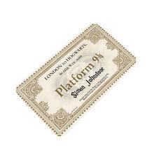 Metallo PERSONALIZZATO portafoglio borsetta Carta RICORDO Hogwarts Harry Potter biglietto del treno