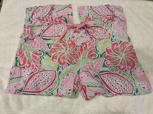 Vera Bradley Size Small Lounge Pajama Pants Pinwheel Pink Paisley Pattern EUC
