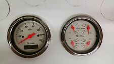 3 3/8 QUAD PRO SHARK STYLE STREET ROD GAUGE SET STREET ROD HOT ROD, UNIVERSAL