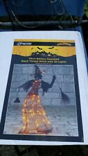 HALLOWEEN BATTERY OPERATED BLACK WITCH WITH LIGHTS ( BNIB )