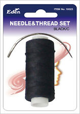 WEAVING WEAVE  SEW IN SEWING NEEDLE & THREAD KIT set Black /C  HAIR EXTENSIONS
