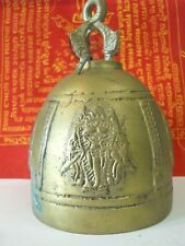 Temple Bell Elephant 3 Heads God Hang Clapper Sound Siam Thailand Buddha Amulet