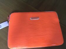 """NWT Juicy Couture New & Gen.  Orange Sequin Laptop Sleeve With Logo 15"""" x 11"""""""