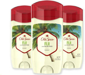 Old Spice Aluminum Free Deodorant Men, Fiji with Palm Tree Scent, 3.0oz (3-Pack)