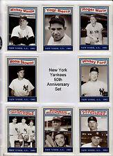 1961 Yankees 50th Anniversary set of 8 Mantle Berra Ford Maris Skowron Kubek
