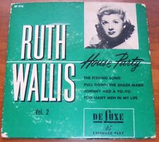 Ruth Wallis  House Party Vol.2  1952 Deluxe  EP 216  VG