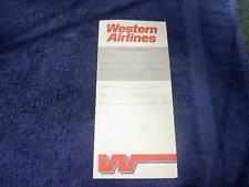 VINTAGE WESTERN AIRLINES BOARDING ENEVELOPE - NEW