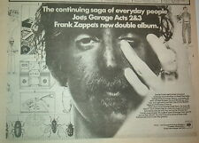 More details for frank zappa joe's garage 2&3 1980 uk poster size press advert 12x8 inches