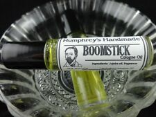 BOOMSTICK Men's Cologne Oil, Roll On Cologne, Clary Sage Wood and Musk .33 oz