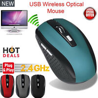 Laptop USB Optical Cordless 2.4G Scroll Mouse Mice 2000DPI Wireless Gaming Mouse
