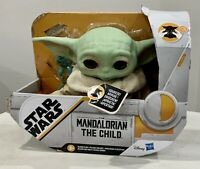 """Disney Star Wars The Mandalorian The Child Plush 7.5"""" Talking Baby Yoda Hasbro"""