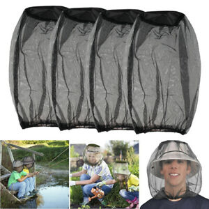 4PCS Mosquito Insect Bug Head Net Face Hat Mesh Protector Travel Camping Fishing