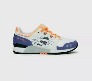 ASICS Men's Shoe Gel-Lyte III OG White / Orange / Purple Size US 10.5