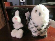 BAM Exclusive Books-a-million soft plush snowy owl & black cat VHTF