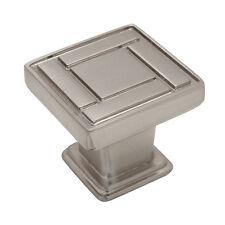 Cosmas Cabinet Hardware Satin Nickel Square Cabinet Knobs #7155SN