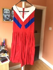 Pinup Couture Red Nautical Swing Dress XL Pinup Girl Clothing  VINTAGE