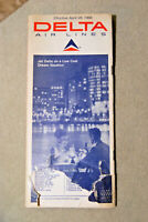 Delta Airlines Timetable - April 28, 1968 - Needs Repair