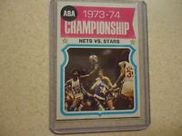 1974-75  TOPPS  JULIUS ERVING #249 ABA CHAMPIONSHIP NICE CONDITION NETS