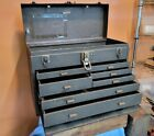 ANTIQUE+Tools+Machinist+KENNEDY+Tool+Box+Felt+Lined+STEEL+Chest+%26+Drawers+%E2%98%86USA