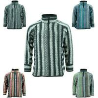 Fleece Lined Brushed Cotton Jacket Cardigan Hoody Hippy  Jumper Zipped
