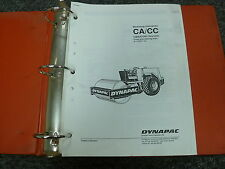 Dynapac Models CC & CA Vibratory Rollers Shop Service Repair Manual Book