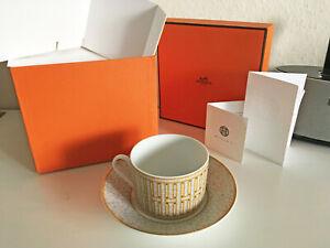 Hermès original Tee Tasse mit Untertasse Mosaique Porzellan