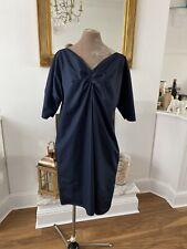 Cos Navy Cotton Dress (cos 44) Uk 18