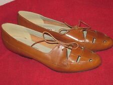 Brown Leather Low Heel Lace Top Oxford Shoes Bandalino Size 8 N