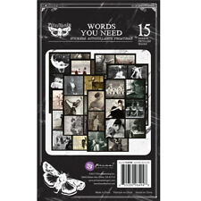 Prima Finnabair Words You Need Stickers Art Daily Planner 15 Sheets #964948