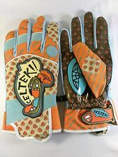 Celtek Men's Extra Large Snowboarding Winter Sports Gloves EUC Orange Blue Brown