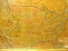 Vintage 1891 United States Wooden Puzzle. Complete! 48 States.