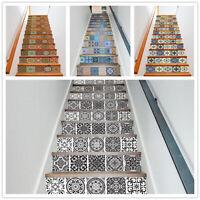 13Pcs/Set Vinyl 3D Mosaic Stair Floor Stickers Riser Staircase Mural Home Decor