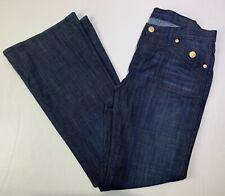 Rock & Republic Womens Straight Leg Flat Front Denim Jeans Blue Size 12