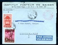"VIETNAM TO GREAT BRITAIN AIRMAIL COVER 1964 ""Saigon"" Cancel PASTEUR Institute"