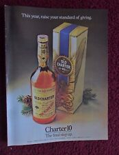 1980 Print Ad Old Charter 10 Kentucky Bourbon Whiskey ~ The Final Step Up