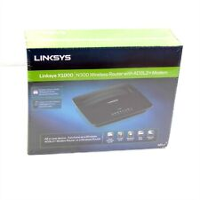 LINKSYS MODEM ROUTER WIRELESS N N300 ADSL2+ ADSL 2 2+ PC MAC 3 LAN 1WAN X1000-AU