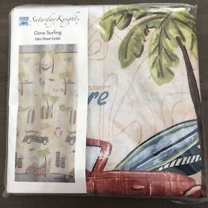 "Saturday Knight Limited GONE SURFING 70"" x 72"" Fabric Shower Curtain"