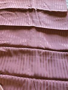 2.1 Yds. x 44 Vintage Late 1970s 100% Silk Mauve Stripe Garment Fabric