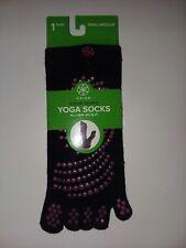 Gaiam Super Grippy Yoga  Socks Black Purple Small Medium NWT Toe Socks