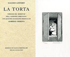 LEOPARDI Giacomo. La Torta. 4 xilografie originali di Alberico Morena