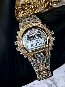 Mens Custom Fully Ice out Sport Automatic Iced Cz VVS Quality Stainless Steel
